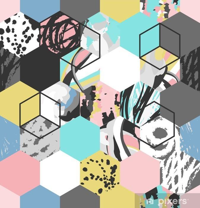 Vektor geometrisk mønster baggrund Laptop Klistermærke - Grafiske Ressourcer