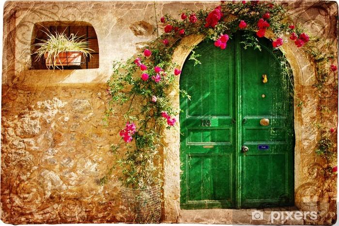 Nálepka Pixerstick Staré řecké dveře - retro stylu fotografie - Témata