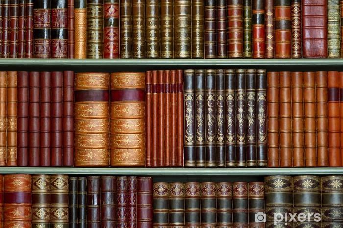 Papier Peint Ancienne Bibliotheque De Livres D Epoque A Couverture