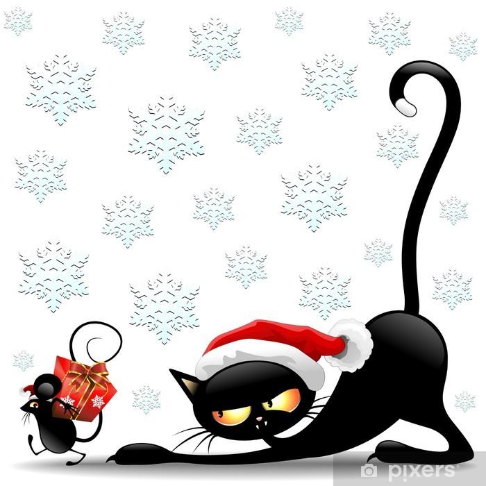 Topic des chats - Page 7 Papiers-peints-chat-et-souris-de-dessin-anime-de-noel-santa-gatto-e-topo-babbo-natale