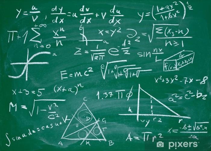 Papier Peint Tableau Noir papier peint formules mathématiques sur le tableau noir école