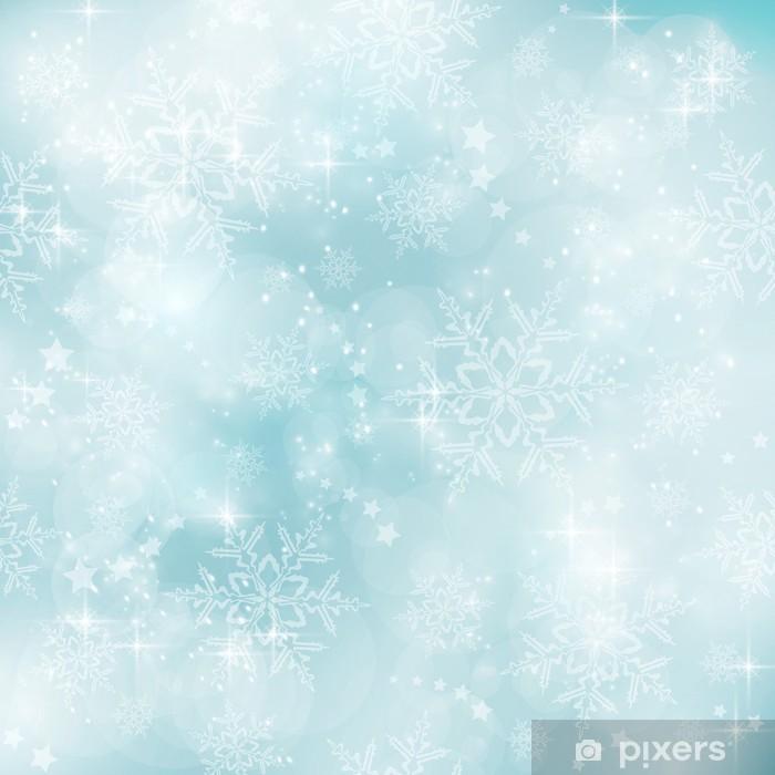 Papier Peint Hiver Bleu Pastel Doux Et Floue Motif De Noel Pixers