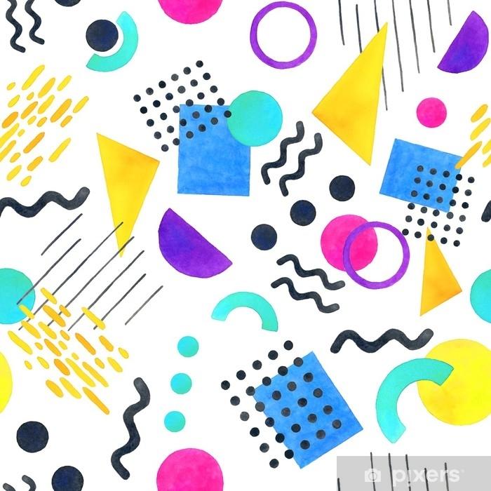 papier peint memphis mod le sans couture de formes. Black Bedroom Furniture Sets. Home Design Ideas