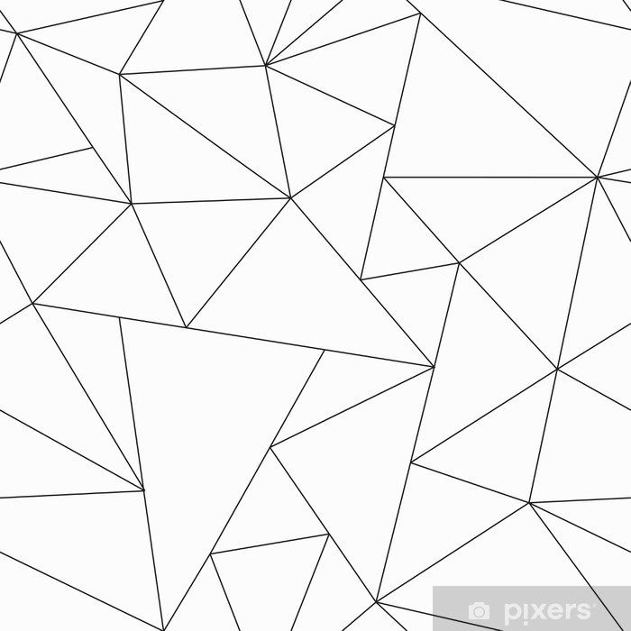 Papier Peint Monochrome Triangle Seamless Pattern Pixers Nous