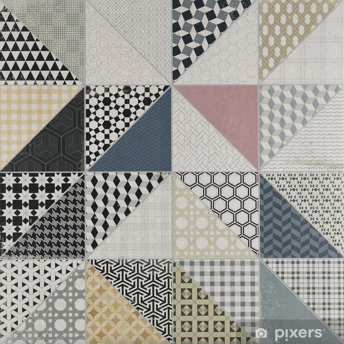 Papier Peint Motif Geometrique Vintage V2 Pixers Nous Vivons