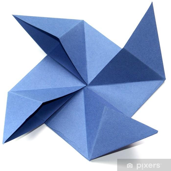 Papier Peint Origami Moulin A Vent Fond Blanc Pixers Nous
