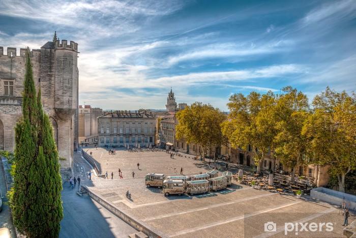 Papier Peint Place Au Palais Du Pape Avignon L Image Hdr Pixers