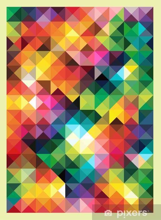 Papier Peint Triangles Colorees Abstraite Moderne Conception De