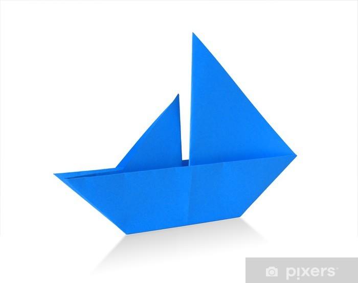 Papier Peint Voilier Origami Bleu Pixers Nous Vivons Pour Changer