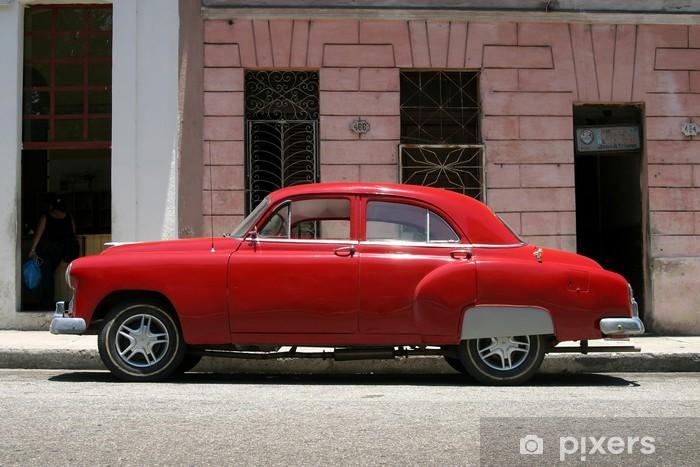 Papier Peint Voiture Vintage Rouge Havane Pixers Nous Vivons