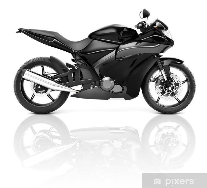 3d black sport motorcycle sticker pixers we live to change. Black Bedroom Furniture Sets. Home Design Ideas