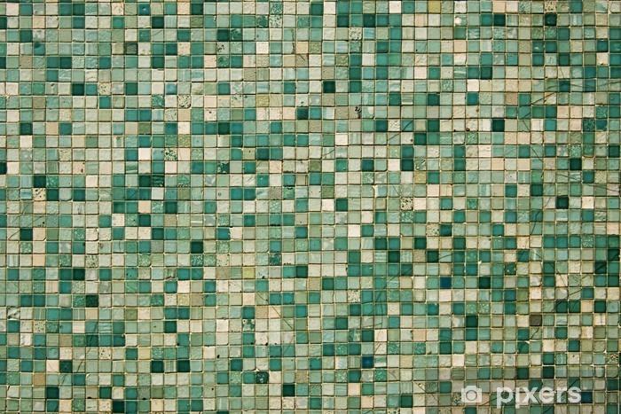 Groene Mozaiek Tegels : Sticker kleine groene mozaïektegels u2022 pixers® we leven om te
