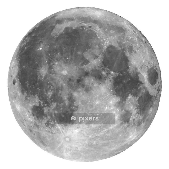 Sticker mural Pleine lune isolé - Espace