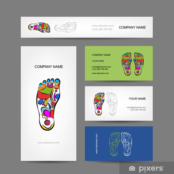 Sticker Pour Ordinateur Portable Les Cartes De Visite Conception Massage Rflexologie Plantaire