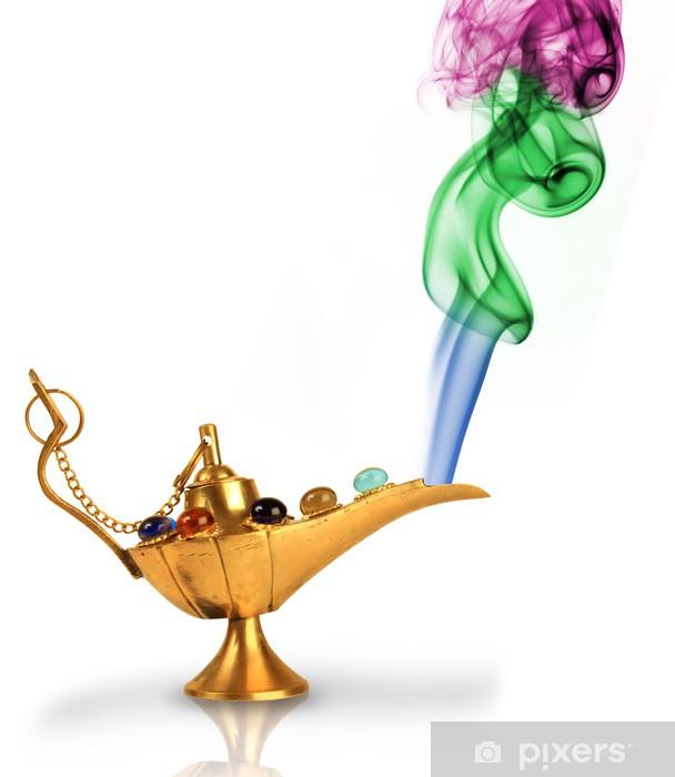 Sticker Pour Porte La Lampe Magique D Aladdin Avec Des Perles Et De