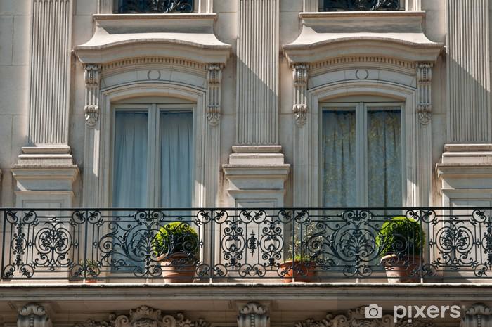 Sticker pour table et bureau fenêtres immeuble parisien u2022 pixers