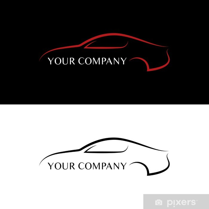 Sticker Rode En Zwarte Auto Logo S Pixers We Leven Om Te Veranderen