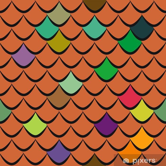 Roof tiles seamless vector pattern Pixerstick Sticker - Heavy Industry