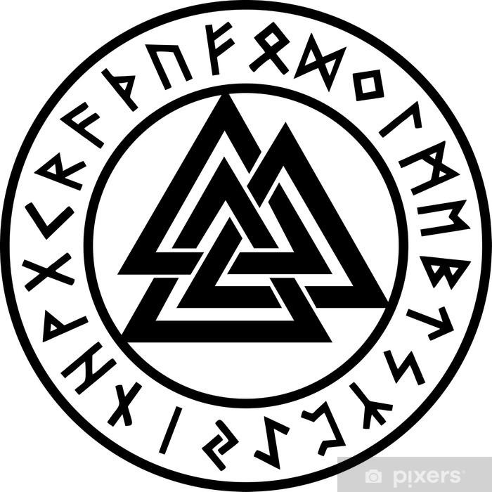 Valknut Runen Kreis Odin Symbol Dreieinigkeit Pixerstick Sticker