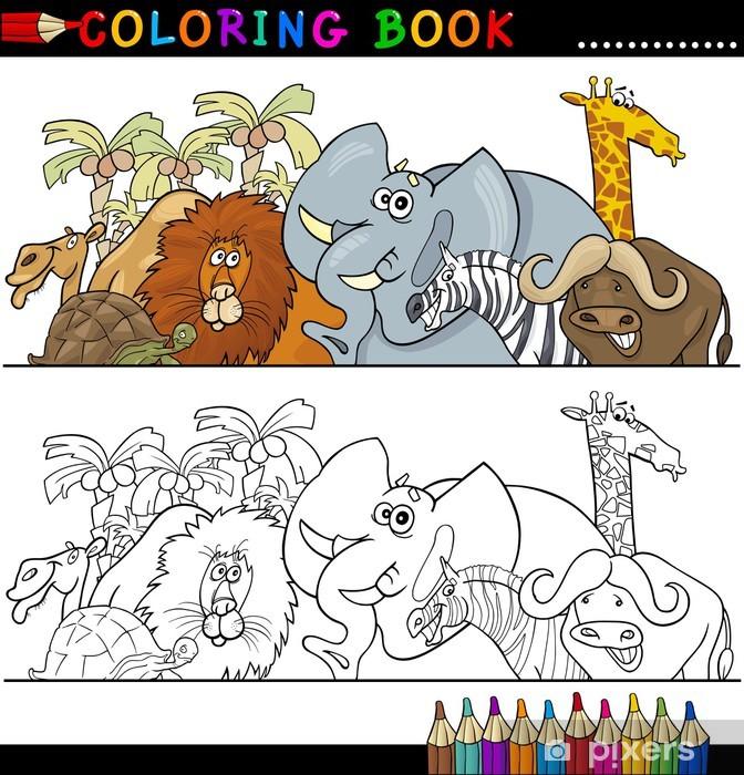 Vinilo Pixerstick Animales Salvajes Safari para colorear • Pixers ...