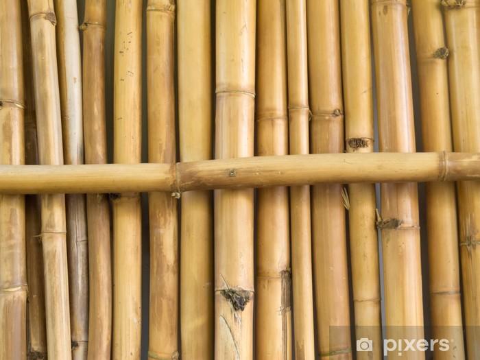 Vinilo Pixerstick Fondo De La Textura De Palos De Bambu Secos - Palos-de-bambu