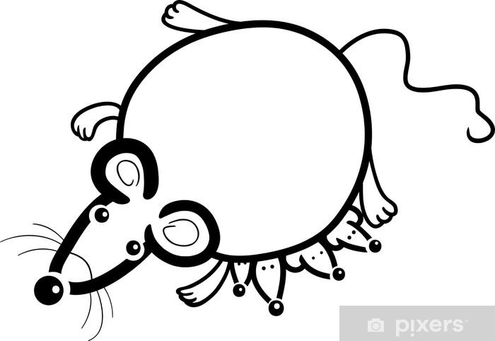 Vinilo Pixerstick Madre de ratón con los bebés para colorear ...