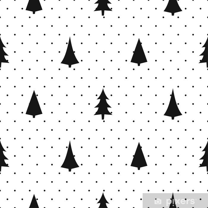 Black And White Simple Seamless Christmas Pattern Varied Xmas Awesome Christmas Pattern Wallpaper