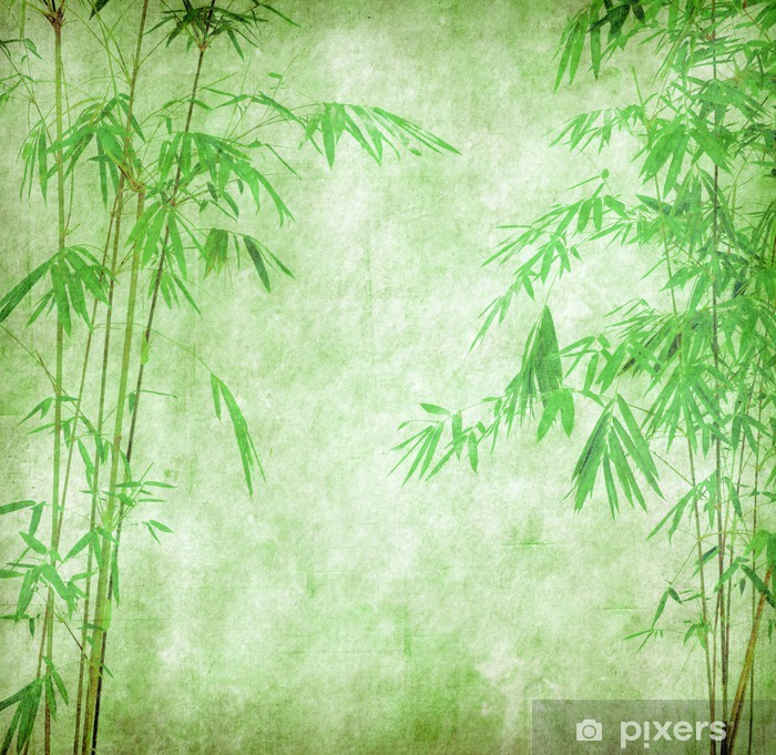 Design Of Chinese Bamboo Trees Wall Mural Pixers We Live To Change