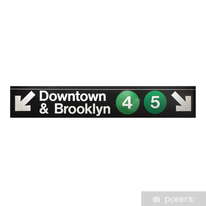 New York City Subway Sign In Midtown Manhattan Wall Mural Pixers