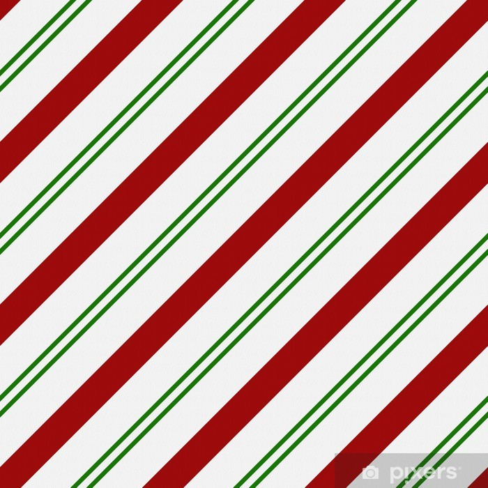 Red Green And White Striped Fabric Background Vinyl Wall Mural International Celebrations