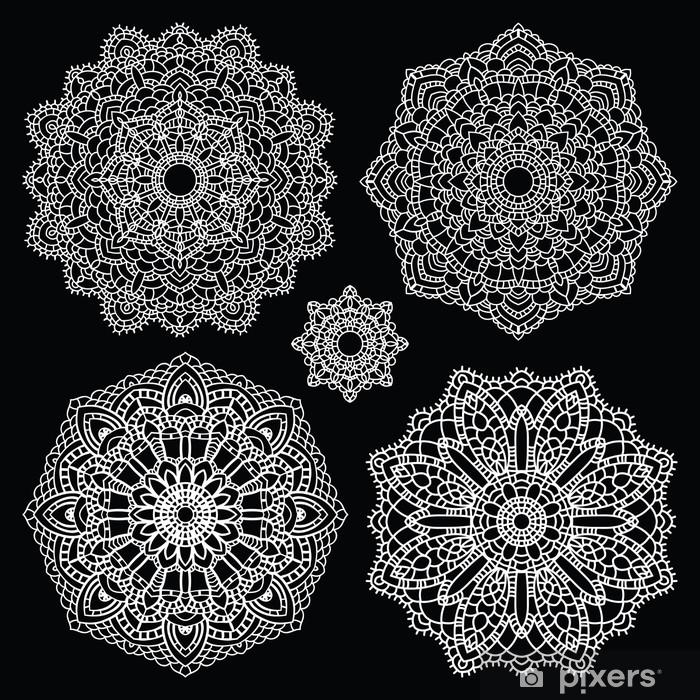 Round Lace Pattern Set Mandala Vinyl Wall Mural