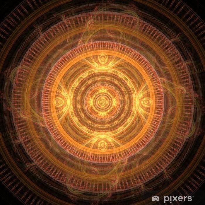 Sun Mandala Vinyl Wall Mural