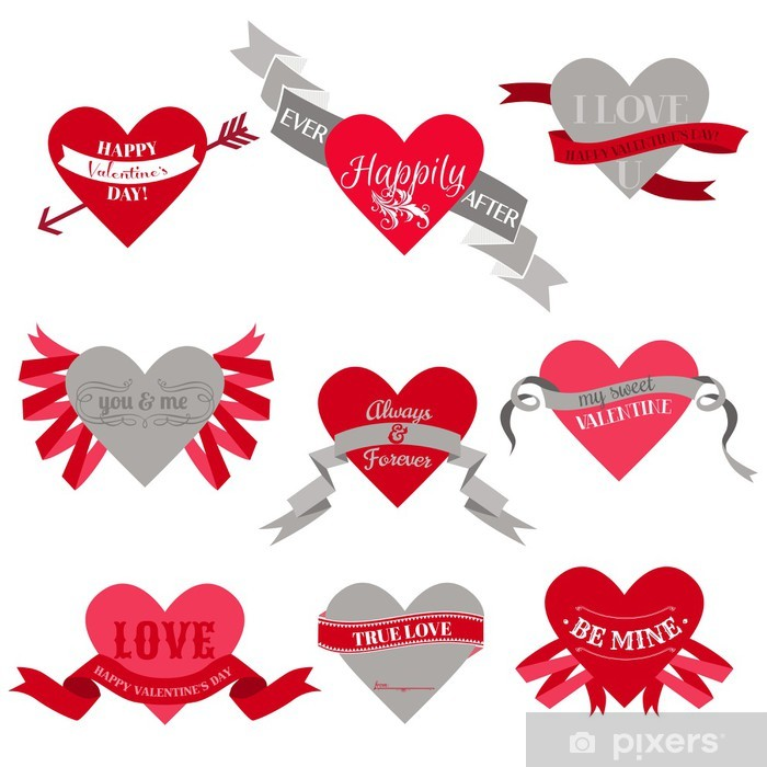 Valentine\'s Day Heart Labels, Tags, Ribbons, Frames - for scrap Wall ...