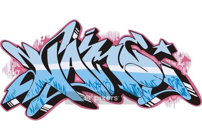 Wandtattoo graffiti namen pixers wir leben um zu ver ndern - Wandsticker graffiti ...