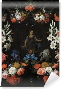 Abwaschbare Fototapete Abraham Mignon - Garland of Flowers