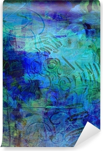 Abwaschbare Fototapete Acrylfarben auf holzplatte