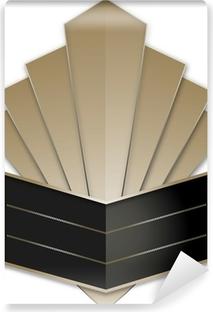Abwaschbare Fototapete Art Deco Schweinestall Badge