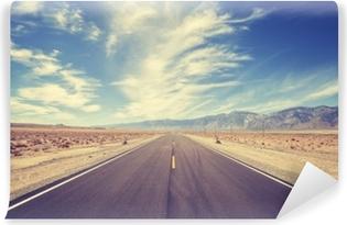 Abwaschbare Fototapete Der Highway in den USA im Vintage-Stil
