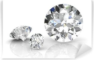 Abwaschbare Fototapete Diamant-Juwel auf weißem Hintergrund. Hochwertige 3d render