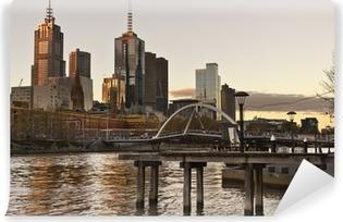 Abwaschbare Fototapete Die Skyline von Melbourne