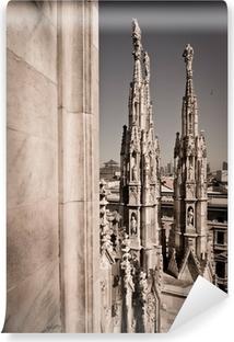 Abwaschbare Fototapete Dom von Mailand Italien - Dachdetail Türme