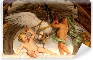 Abwaschbare Fototapete Engel-Spiel mit einer Gans-Malerei - Vatikan Museum