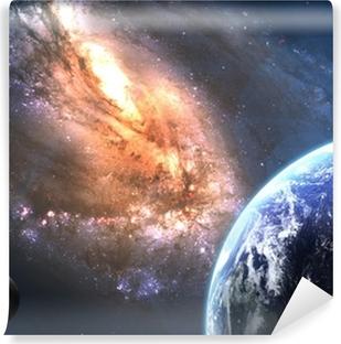 Abwaschbare Fototapete Erde im Weltraum