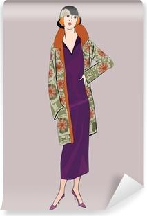 Abwaschbare Fototapete Flapper Mädchen (20er Jahre): Retro Fashion-Party