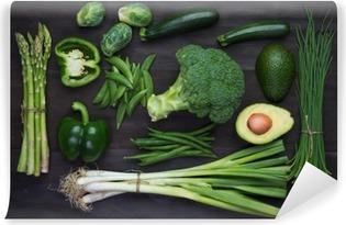 Abwaschbare Fototapete Frische grüne Bio-Gemüse