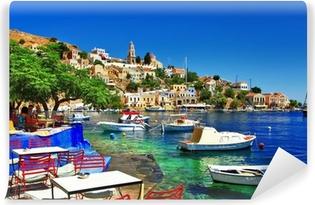 Abwaschbare Fototapete Griechische Feiertage. Insel Symi