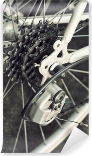 Abwaschbare Fototapete Hinten Rennrad Kassette auf dem Rad mit Kette