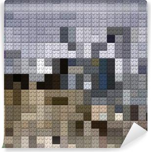 Abwaschbare Fototapete Kunststoff-Ziegel Hintergrund