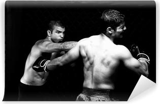 Abwaschbare Fototapete MMA - Mixed martial artists fighting - Stanzen