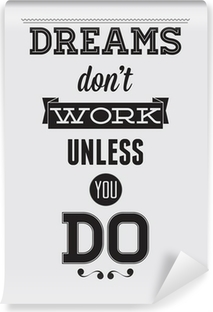 Abwaschbare Fototapete Motivation Poster
